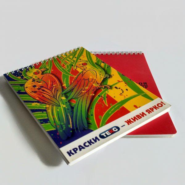 Блокнот с логотипом на заказ